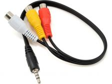 Fat Shark kabel RCA samice - 4P Jack 30cm