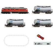 H0 Digitální set z21start - vlak s lokomotivou BR232 DBAG s kolejemi