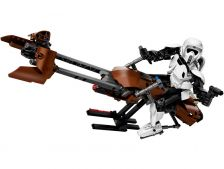 LEGO Constraction Star Wars - Průzkumný voják a speederová motorka
