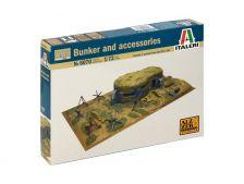 Italeri diorama Bunkr s příslušenstvím WW2 (1:72)