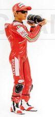 1:12 FIGURINE PODIUM C.STONER WORLD CHAMPION MOTO GP 2007