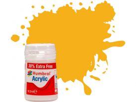 Humbrol akrylová barva #154 odznaková žlutá matná 18ml