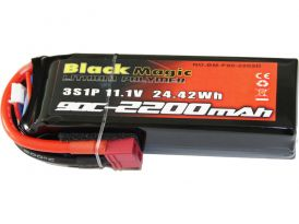 Black Magic LiPol 11.1V 2200mAh 90C Deans