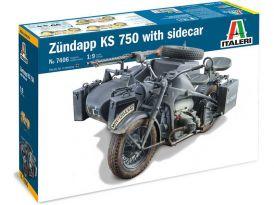 Italeri Zündapp KS 750 se sajdkárou (1:9)