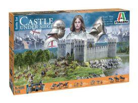 Italeri diorama - 100 Years WAR Castle under siege (1:72)