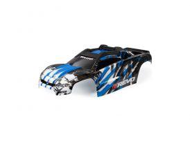 Traxxas karosérie E-Revo modrá sestavená
