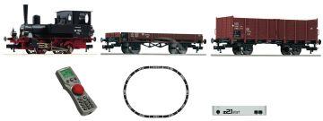 z21 start Digitálna štartovacia súprava: Parná lokomotíva triedy 98.75 a nákladný vlak, DB