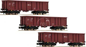 3 kusy gondoly typu Eas, ČD Cargo