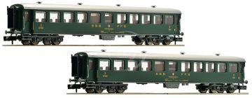 2 kusy expresných vlakových vozňov, SBB