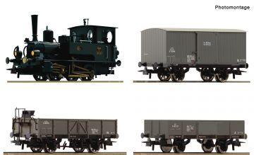 """H0 - Roco 61457 Set parná lokomotíva BR 85 s nákl.vozy """"Kaiserzeit"""""""