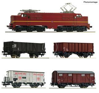 H0 - Roco 61459 Elektrická lokomotíva 1224 s nákladným vlakom, NS