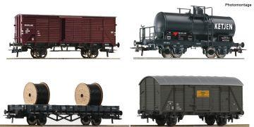 H0 - 4-dílný set nákladních vozů, NS