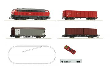 Home > SETS 51312 - z21 start Digitalset: Diesel locomotive class 218 with freight tra